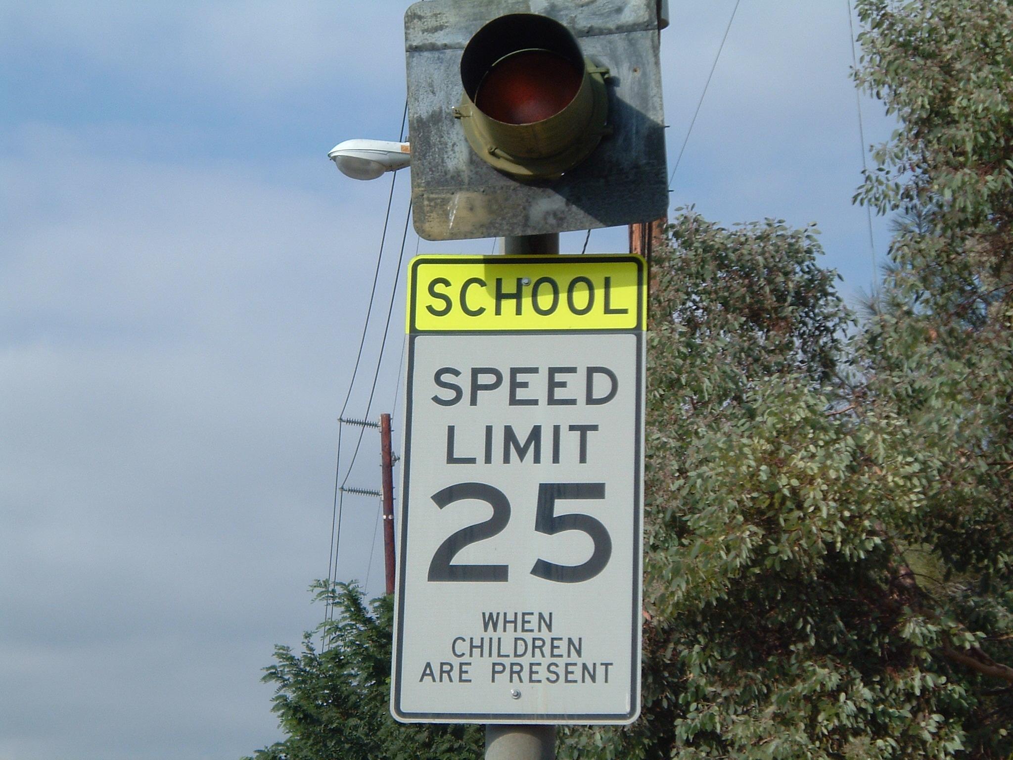 SchoolZone-SpeedLimitSignAndLight