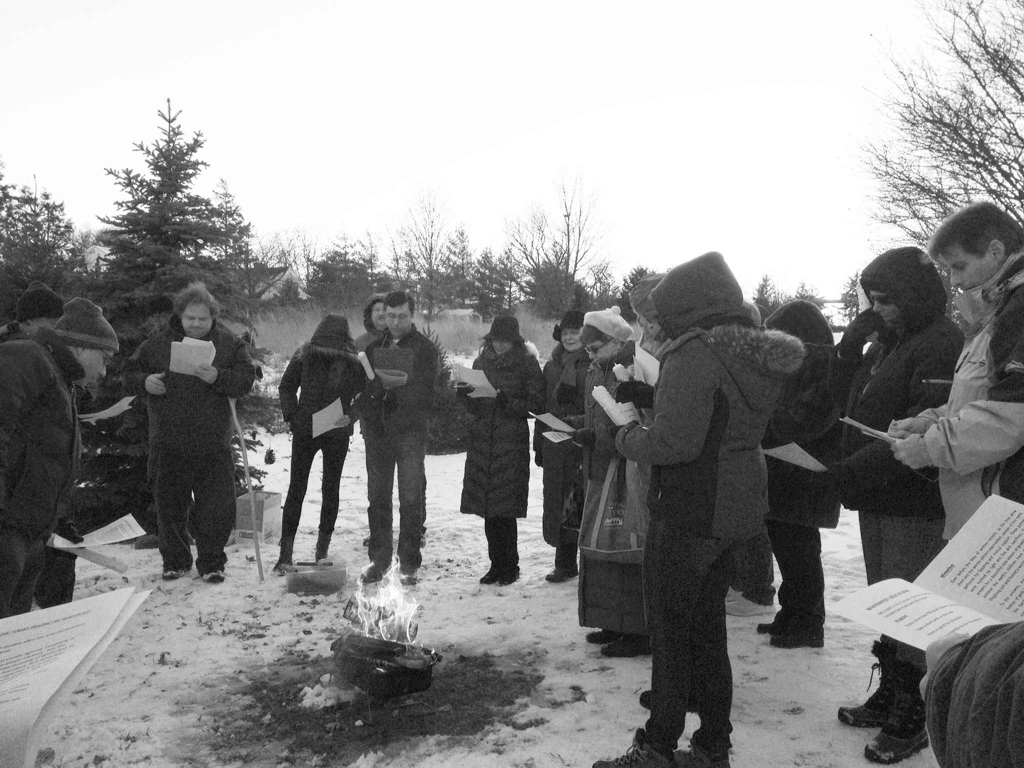 Both professors and students attended the annual Winterfest and fed the birds while gathering around a fire.  (PHOTOS BY ROSANNA SINGH)