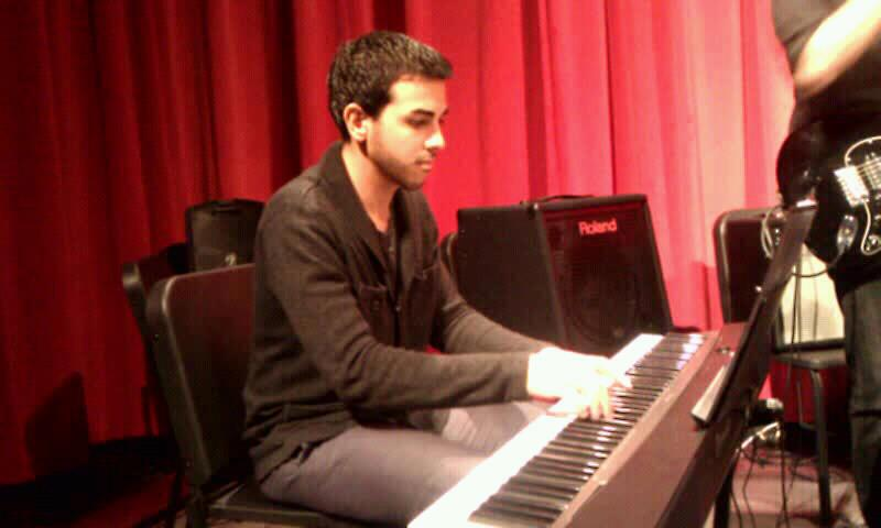 Angel Rodriguez Playing Piano