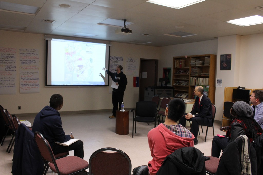 The African American Recourse Center hosted a People's Justice workshop. (PHOTO BY MARVIN DUARTE)