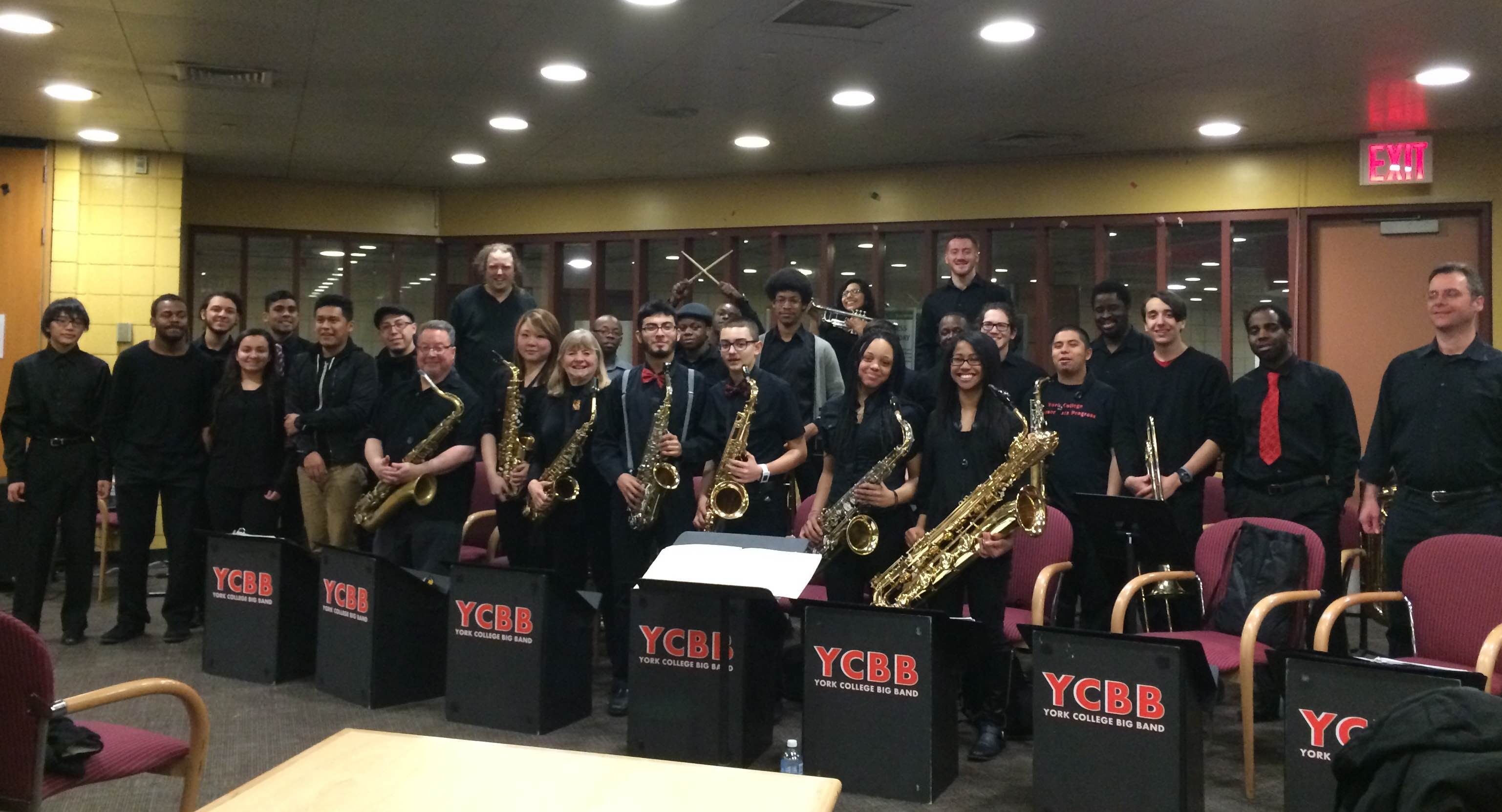 Big Band poses after their teaser concert.  (PHOTO BY ALANA SINGH)